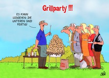 Einladung Grillparty - Uli Stein